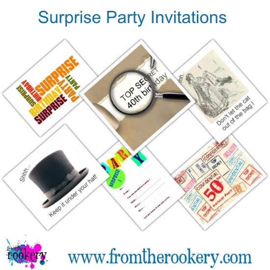 Printable surprise birthday party invitations