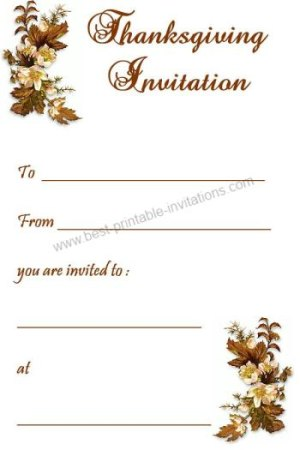 Printable Thanksgiving Invitations - Free Invite