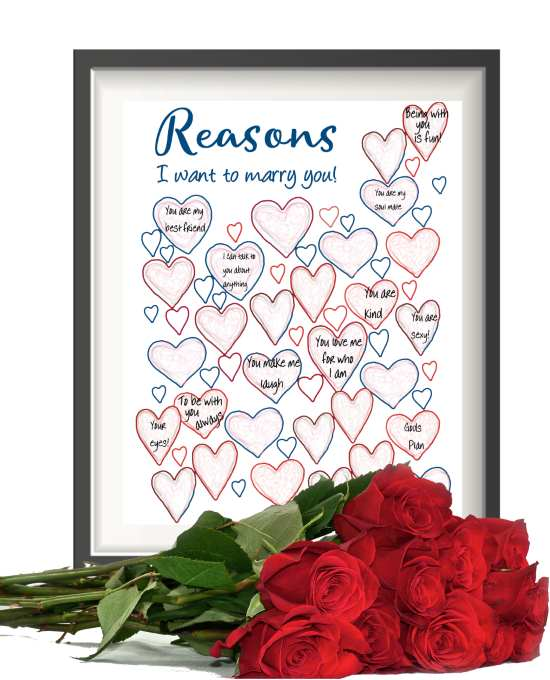 Reasons I want to marry you printable