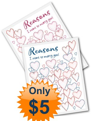 Reasons I want to Marry You INSTANT Download