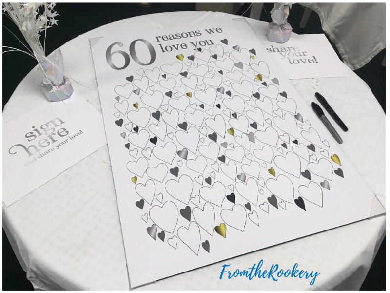 60th Anniversary Guest Book Poster