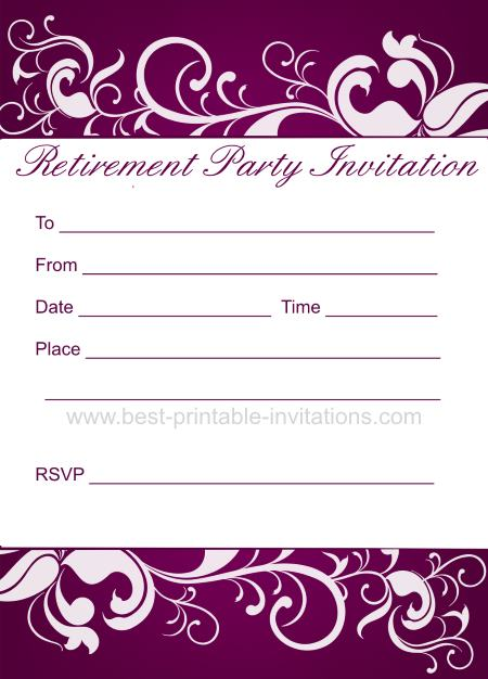 blank party invitations to print free