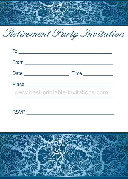 Printable Retirement Party Invitation