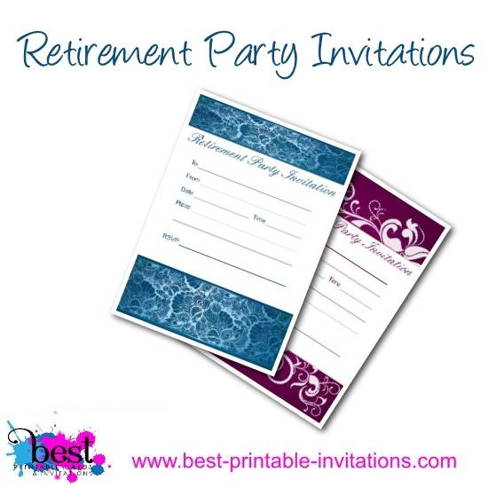 Retirement Party Invitations - Free Printable Invites