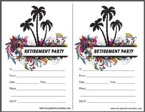 Free Retirement Party Invitations