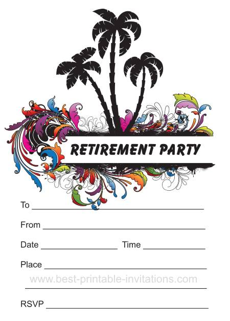 image relating to Free Printable Retirement Invitations referred to as Printable Retirement Celebration Invites