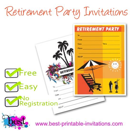 Printable Retirement Party Invitations – Printable Retirement Party Invitations