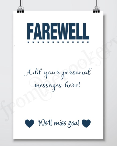 Farewell Gifts - Printable