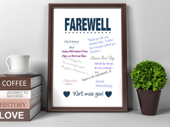 Farewell - We'll Miss you PRINTABLE