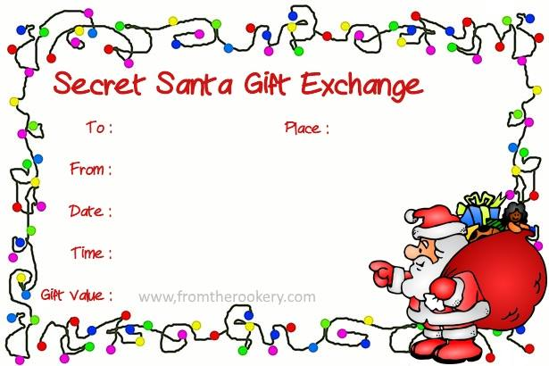 Free Printable Secret Santa Gift Exchange Invitations