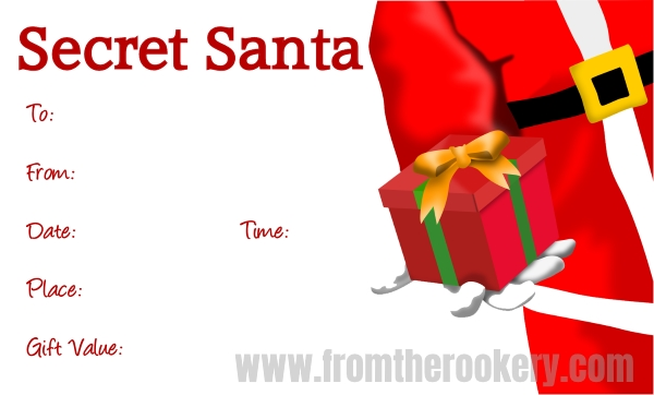 Secret Santa Party Invites
