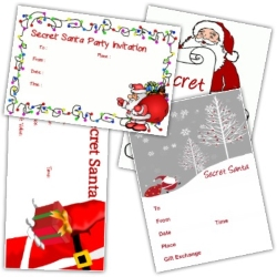 Secret Santa Party Invitations