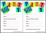 Sleepover Party Invitations Thumbnail