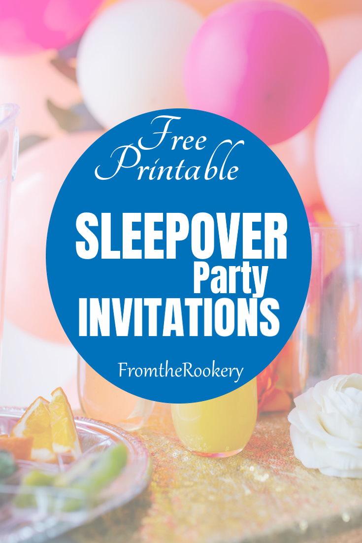 Free printable sleepover invitations