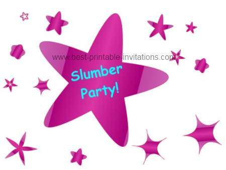 Free Printable Slumber Party Invitations
