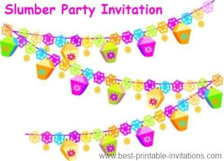 Printable Slumber Party Invitations – Printable Slumber Party Invitations