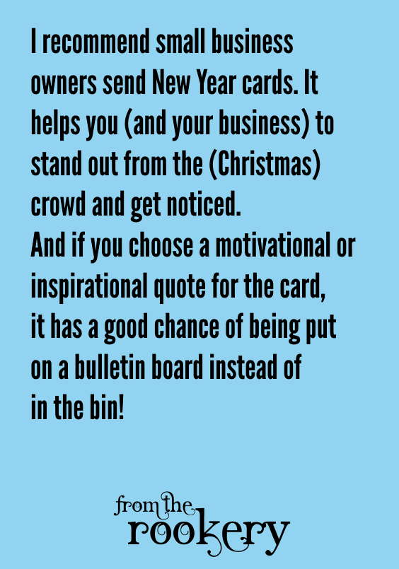 Small business greeting card idea