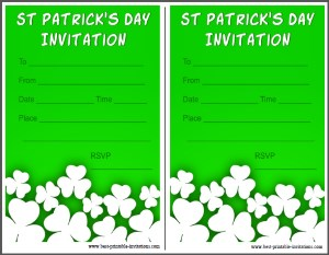 Saint Patricks Day Party Invitation