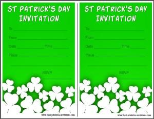 Saint Patricks Day Party Invitation