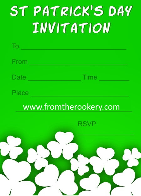 St Patrick's Day Invitations - Shamrocks