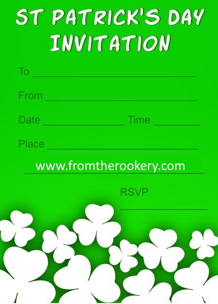 St Patrick's Day Invitations - Shamrocks