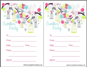 Printbale summer party invitation - free invites