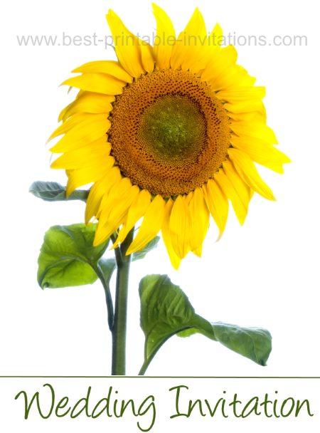 Free Printable Sunflower Wedding Invitations