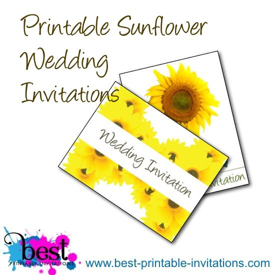 Free Printable Sunflower Wedding Invitations