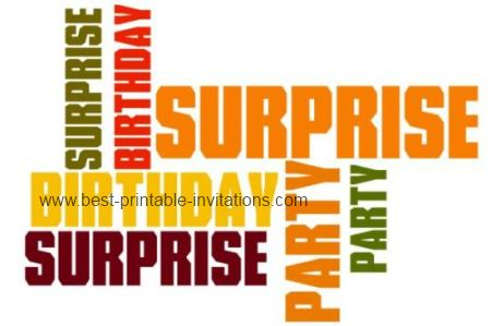 Surprise Birthday Invitation - Free Printable Invite Cards
