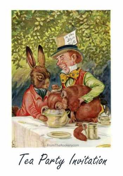 Mad Hatter Tea Party Invitations - Free Printable
