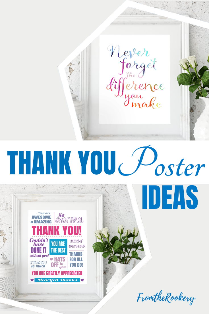 Thank You Poster Ideas