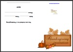 Thanksgiving Invitation Card Thumbnail