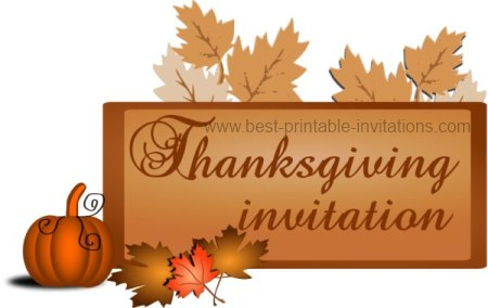 Thanksgiving Invitation - Free Printable