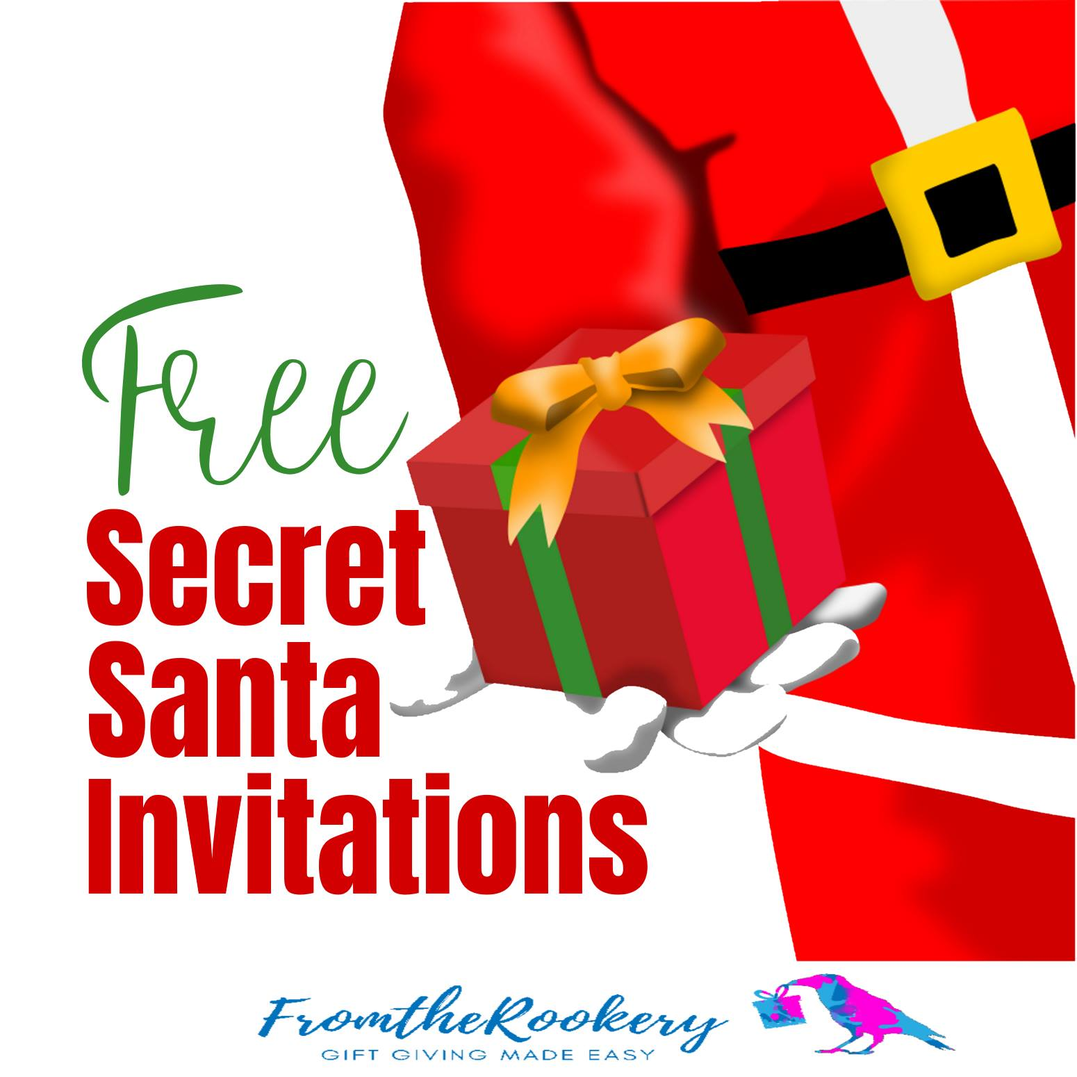 Free Printable Secret Santa Invitations - FromtheRookery