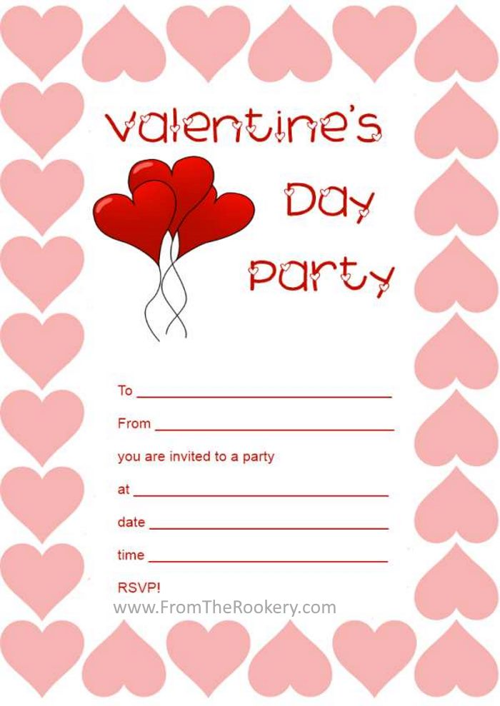 printable valentine party invitations, Party invitations