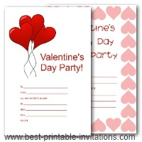 Valentine Party Invitation With Robot