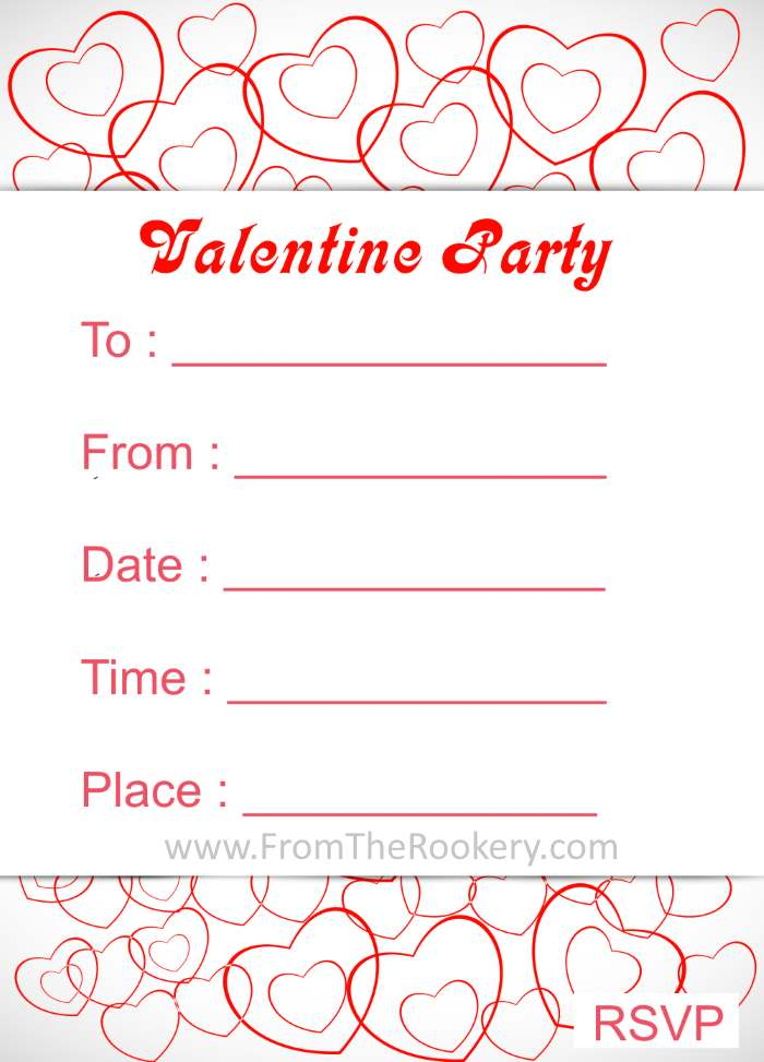Printable Valentine's Day Invitations