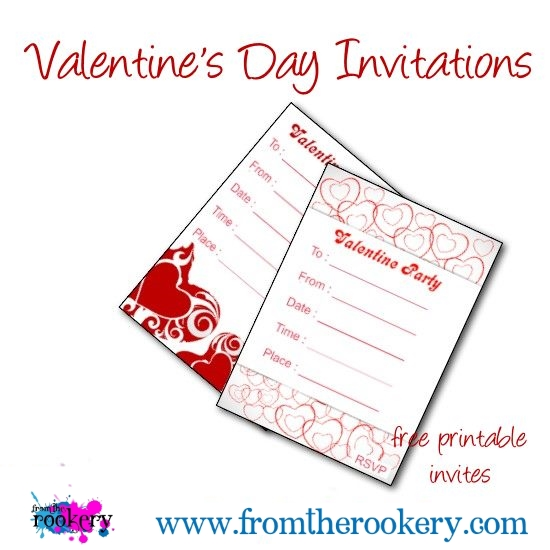 Printable Valentine's Day Invitations - Free Party Invites