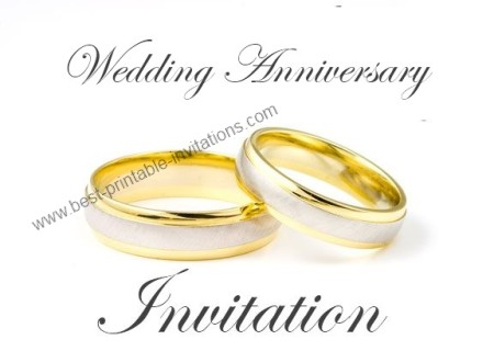 Wedding Anniversary Invitation - Free Printable Card