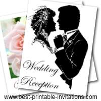 Free Printable Wedding Reception Invitations - free printable invite card templates