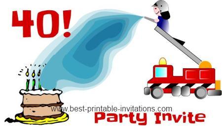 Funny 40th Birthday Invitation Ideas