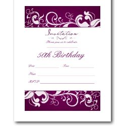 50th Birthday Invitations - Free Printable Party Invitations