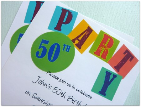 50th Birthday Printable Invite