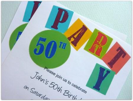 50th Birthday Printable Invite