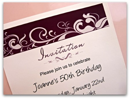 50th Birthday Party Printable Invite