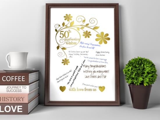 50th Wedding Anniversary Gift Print