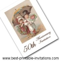 50th Wedding Anniversary Invitation - Free Printable Invite Card