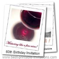 60th Birthday Party Invites