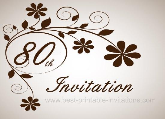 printable 80th birthday invitations koni polycode co