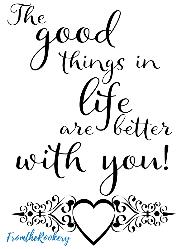 The good things in life card